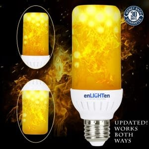 2 pack enlighten led flame effect light bulb image
