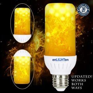 2 pack enlighten led flame effect light bulb image