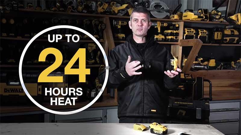 24 hours heat dewalt commercial