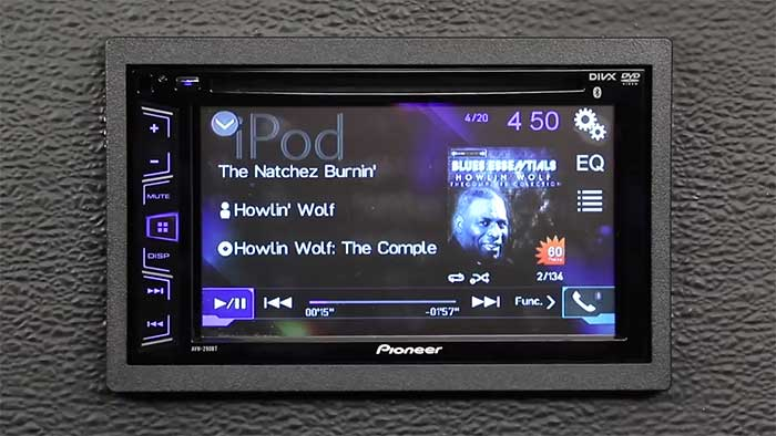 pioneer car video unit on a table