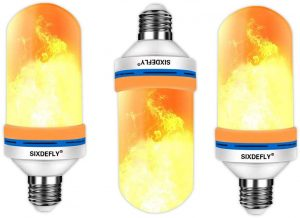 3 pack sixdefly flame effect led light bulbs image