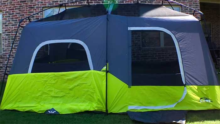 9 person cabin tent by core equipment