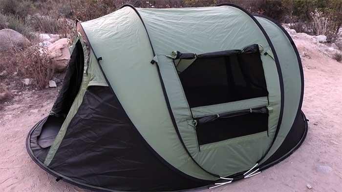HUI Lingyang black and green camping tent