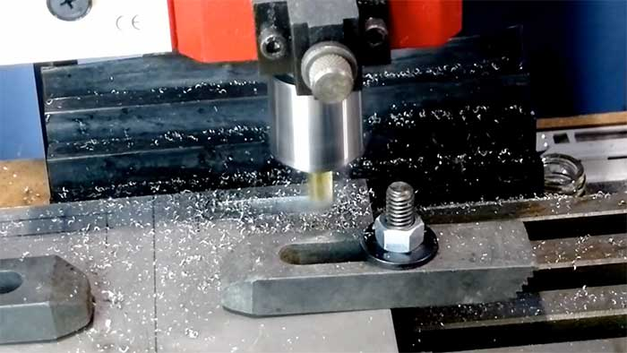 X2 milling a piece of metal