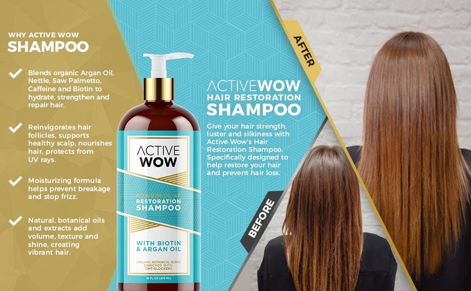 active wow hair growth shampoo image
