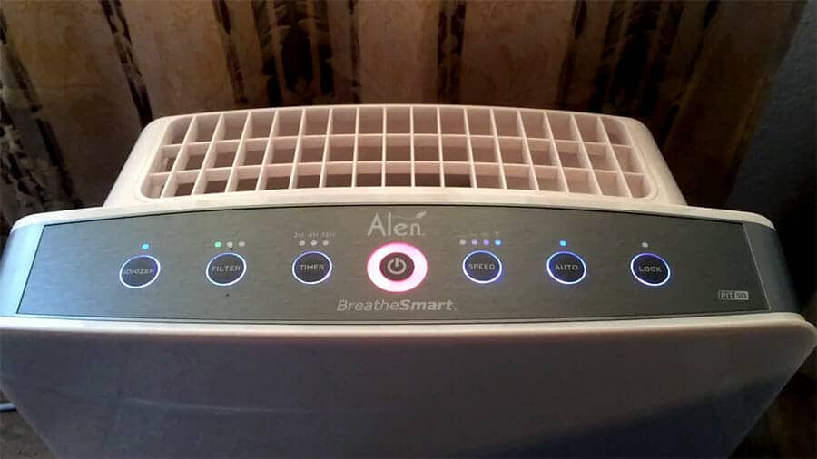 Alen breathesmart air filter control panel