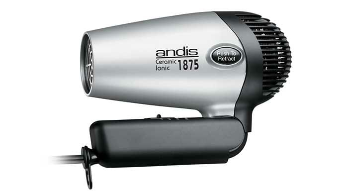 Andis gray color hair dryer in folded position