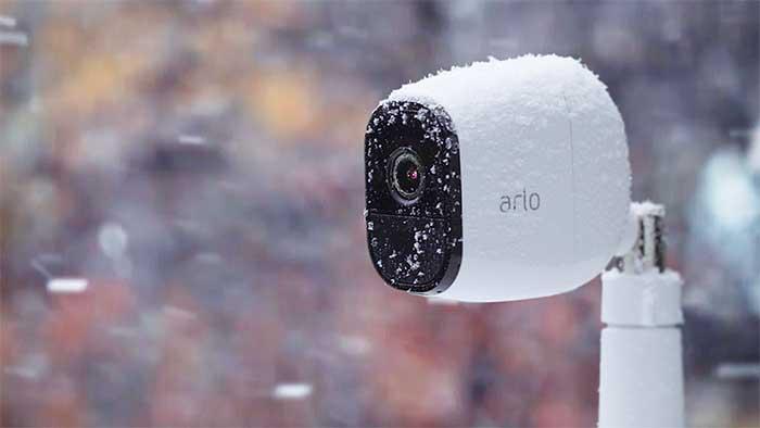 Arlo pro camera under snow