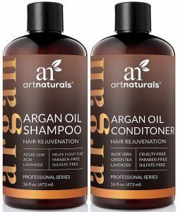 art naturals argan shampoo conditioner set image