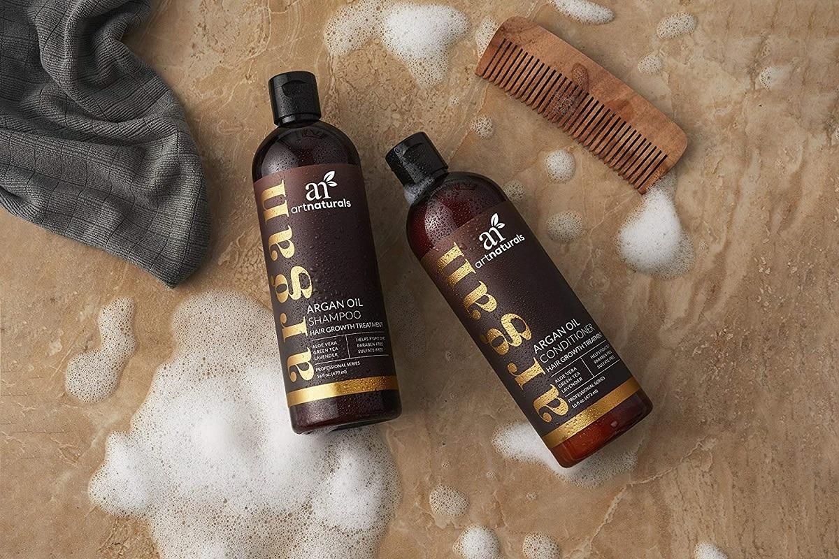 art naturals argan shampoo conditioner image
