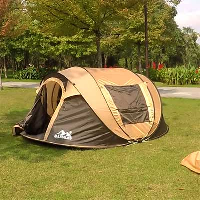 Best instant tent on a grass field