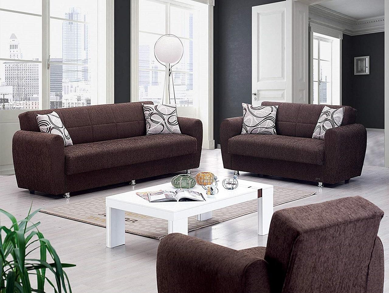 beyan modern convertible sofa bed image