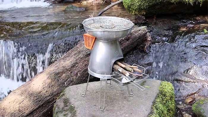 Biolite outdoor wood stove