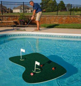 blue wave aqua golf backyard game image