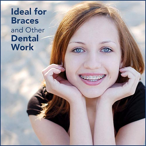Ideal for braces - waterpik ad