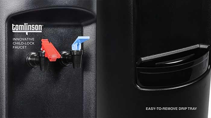 Brio CL520 faucet closeup next to the drip tray