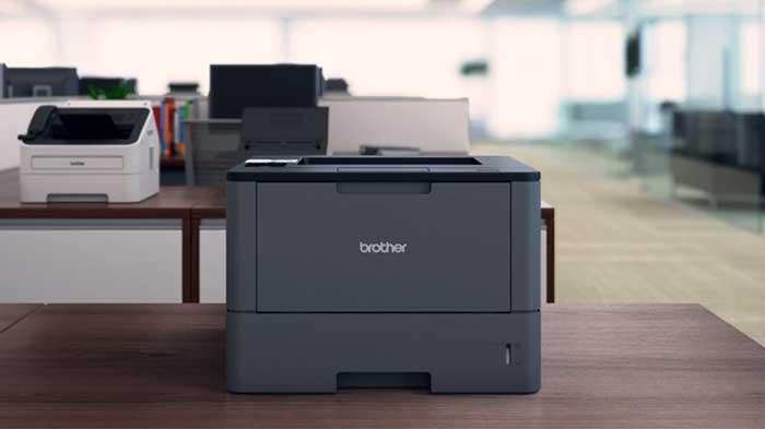 Brother HL L5200DW printer on a desktop