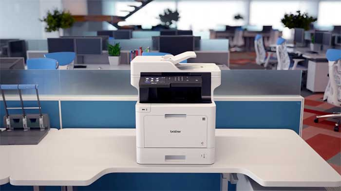 Brother multifunction printer in an office space