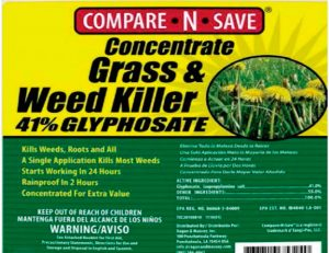 organic ingrediends for compare n save weed killer