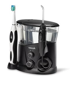 Waterpik complete care water flosser and electric toothbrush - black color