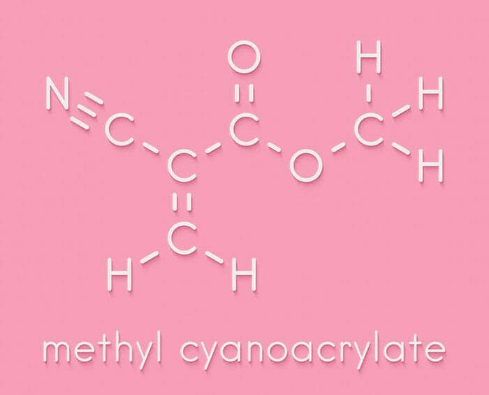 methyl cyanocrylate molecule