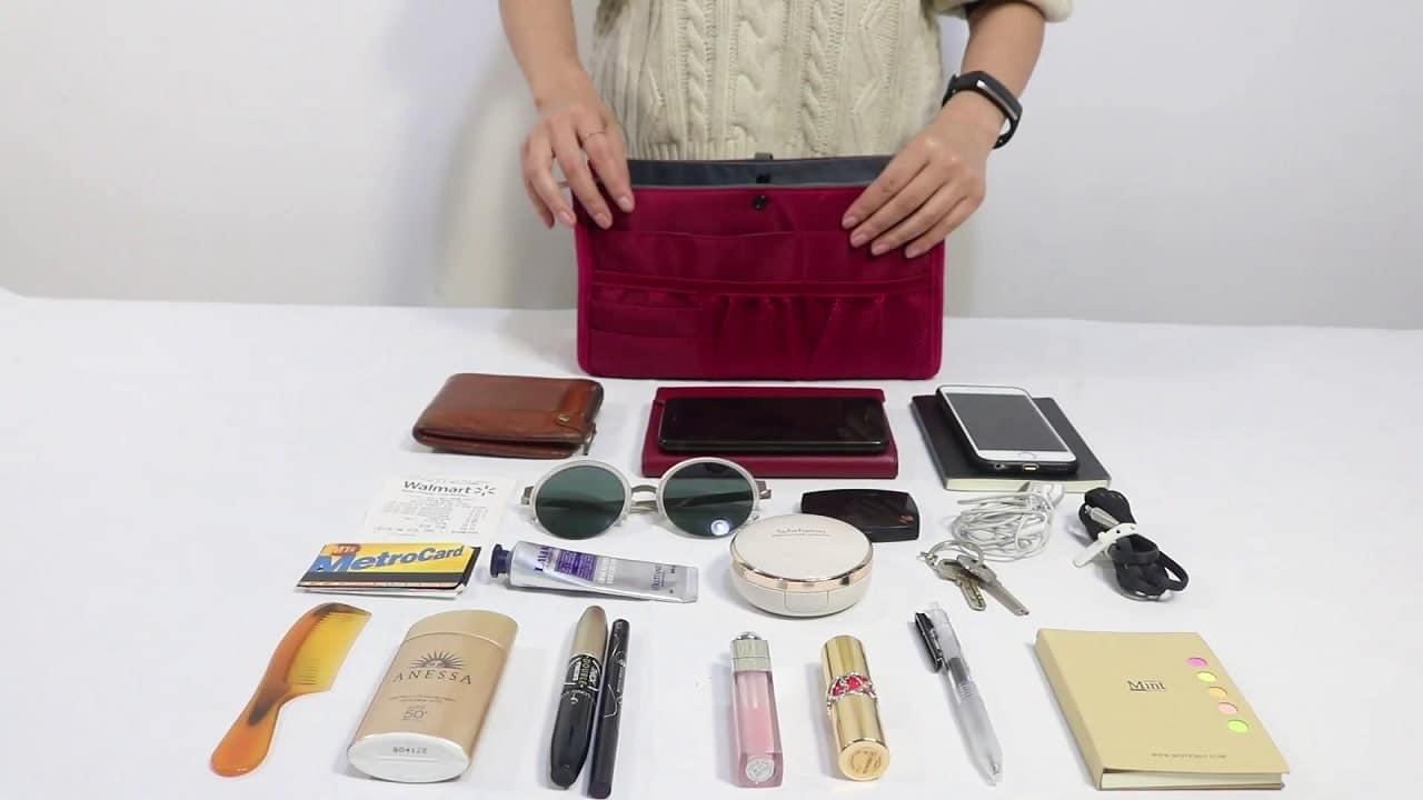 dahlias patented sturdy handbag purse organizer image