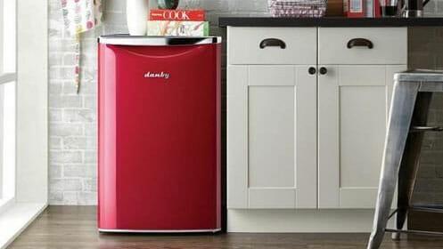 danby refregirator in a kitchen