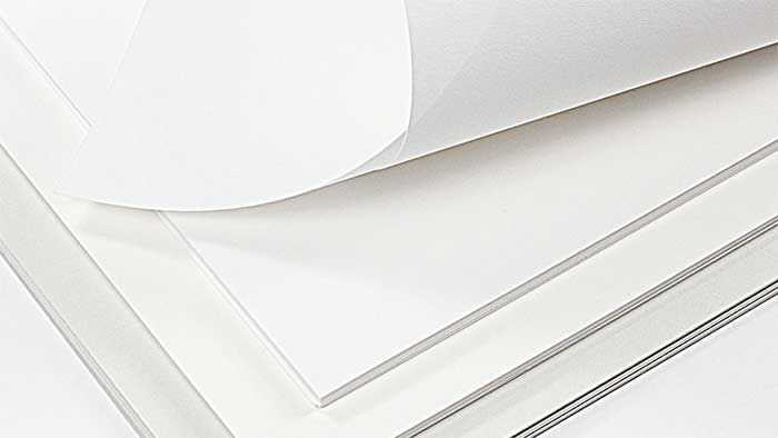 Different weight of cardstock paper sheets