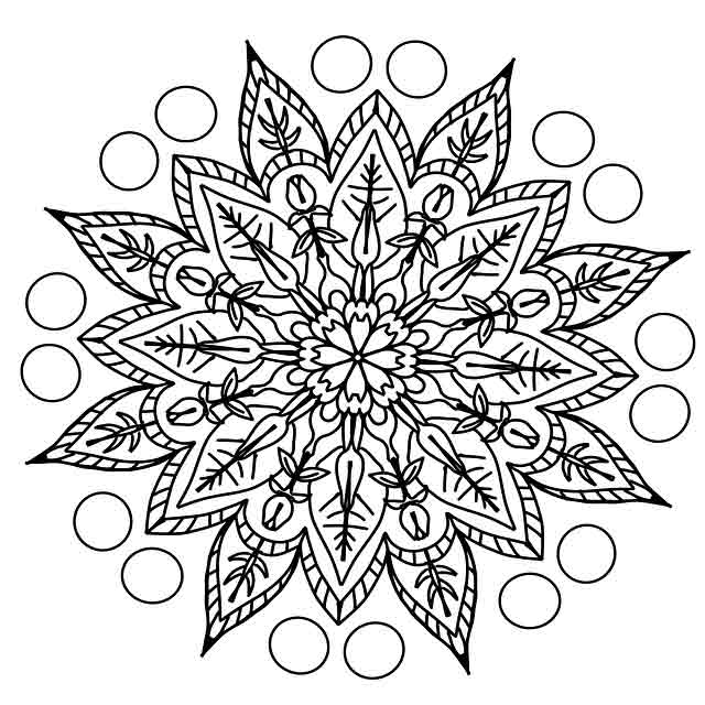 Mandala drawing in doodle style