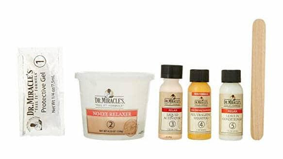 Dr miracle hair relaxing kit