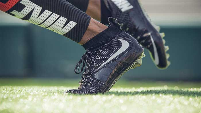Nike elite td on a football player