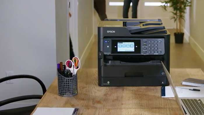 Epson ecotank printer in a small business office