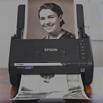 epson photo scanner feeding old photographs automaticallly