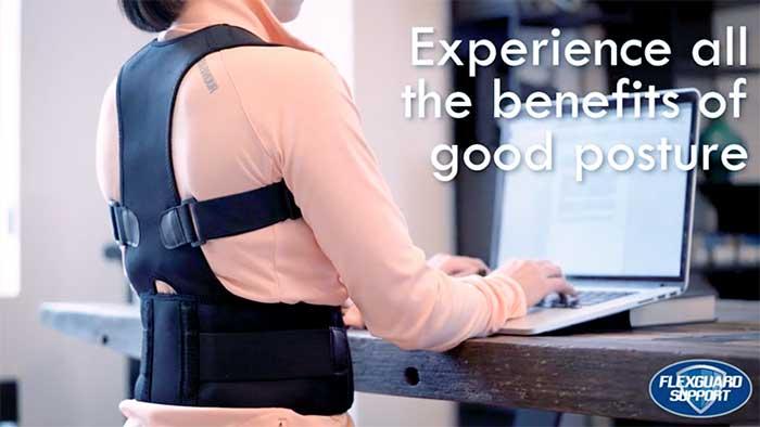 Desk worker posture corrector ad