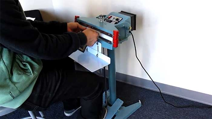foot operated impulse sealer