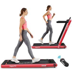 goplus 2 in 1 treadmill image