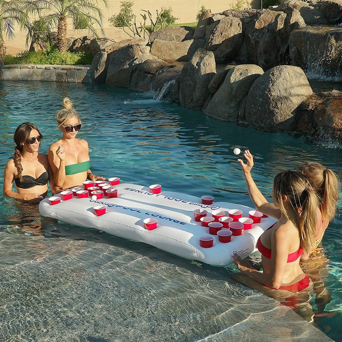 gopong pool lounge floating beer pong table image