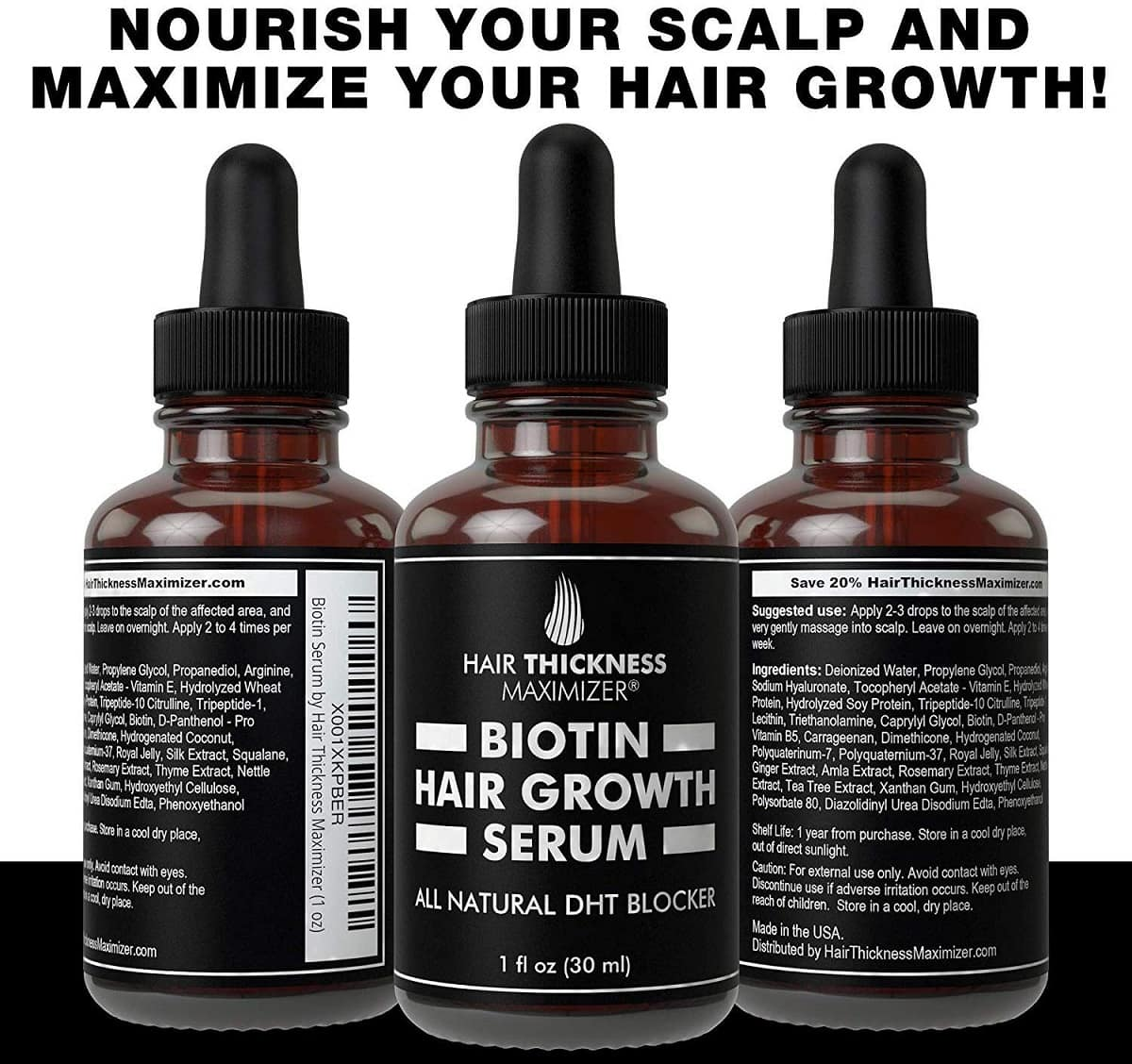 hair growth serum with biotin oil image