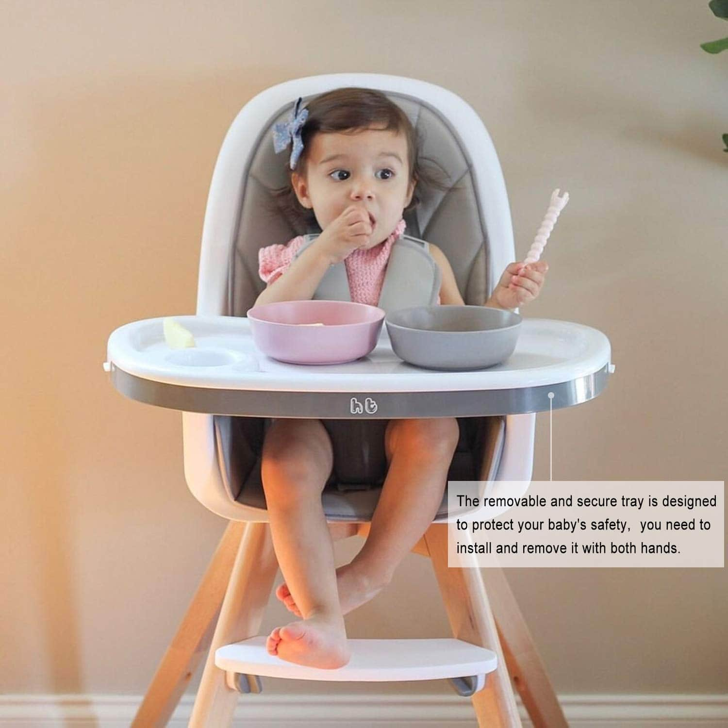hm tech baby high chair image