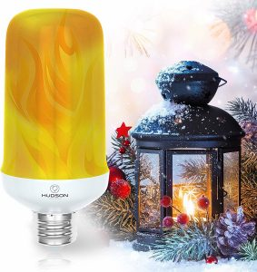 hudson lighting led flame effect light bulb image