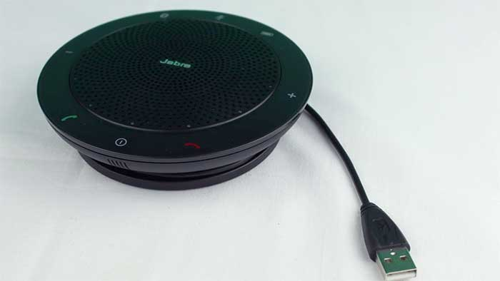 Jabra 510 speakerphone with the usb cable unplugged