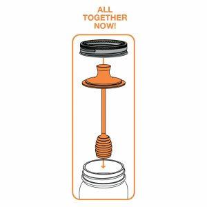 jarware stainless honey dispenser