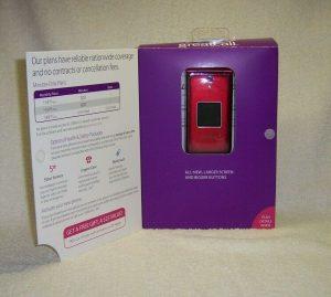 jitterbug flip cell phone box
