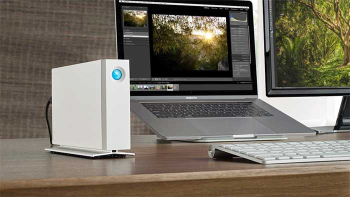 Lacie d2 video editing setup