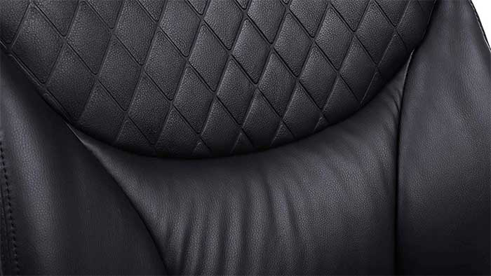 Close-up of a PU Leather Back rest