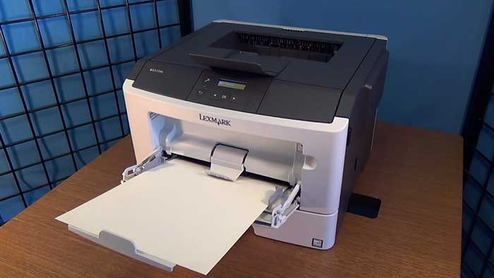 Lexmark paper tray with A4 sheets