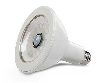 LED Lightbulb on a white background