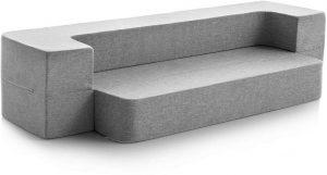 lucid 8 inch convertible foam sofa image