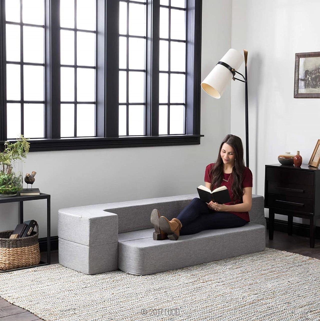 lucid convertible foam sofa image