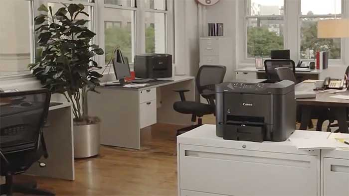 MB2720 printer in a small office space